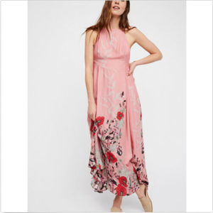 FREE PEOPLE EMBRACE IT ROSE MAXI LONG PINK DRESS